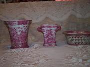 Pink and white ceramics