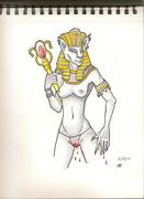 Sekhmet- The godess of war and bloodlust.