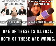 Only One Is Illegal...