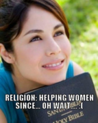 Religion is great for women