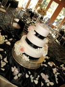 Black Ribbon Cake