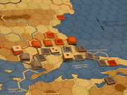 Turks and Greeks fight shoulder to shoulder against the Bulgarians and Russians too little avail.