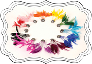 Twilight Sparkle Feather Fascinator Hair Snaps by Artistic Edition