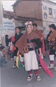 Sonia Alcocer mayorga, con el traje típico de Tarabuco