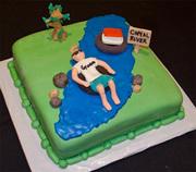 River Tubing Groom's Cake