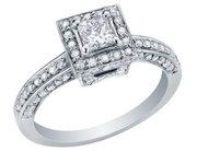 Princess Cut Diamond Engagement Ring 1Carat
