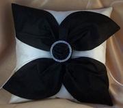 Silk Love Knot Ring Bearer Pillow