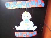 cartel de bienvenida para un bebe