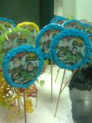 galletas  como tarjetas de invitacion de toy story
