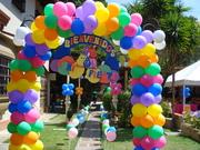 decoracion de Bienvenida con globos