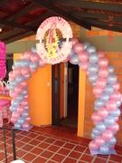 Decoracion arco de Bienvenida - fiesta Lazy town