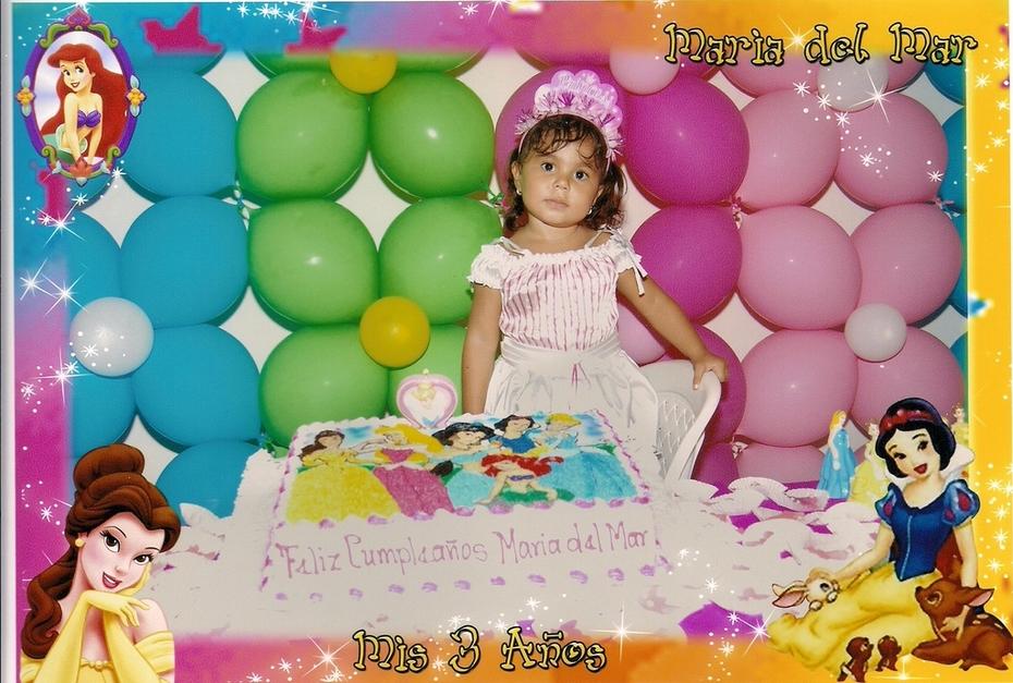 cumple 3 años princesas