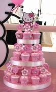 Torre de cupcakes kitty