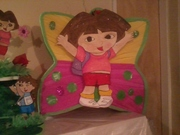 chupetera de diego ,piñata chupetera de dora piñata bienvenido realizado por maclervi ♥gonzalez