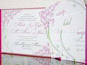 Custom Single Card & Pocketfold Wedding Invitations