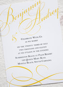 Love Typography Wedding Invitation