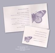 Monarch Recycled Wedding Invitation