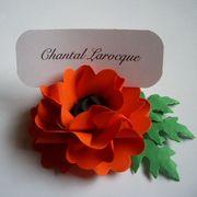 Place Card Holder - Oriental Poppy