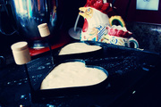 Love Pancakes on the Griddle