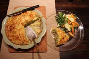 plated zucchini pie