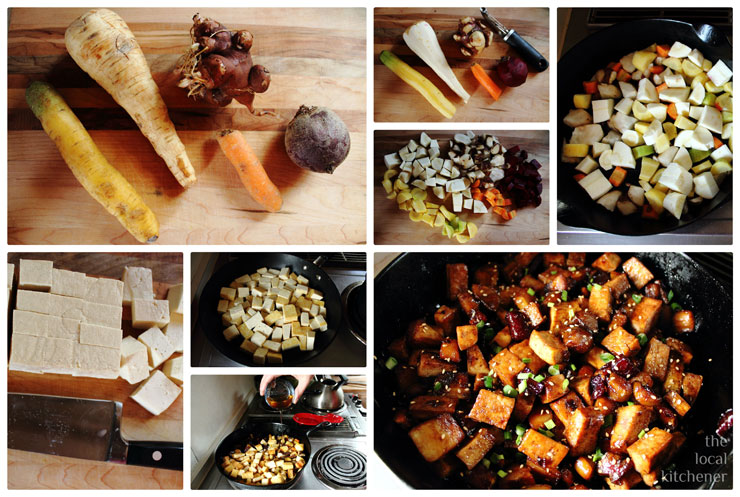 HOME Cooked Spring Recipes: Jon's Root Vegetable Maple Stir-Fry with Tofu and Rice