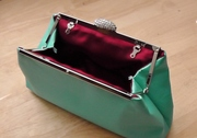 Tiffany Blue and Red Bordeaux Clutch