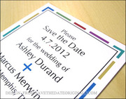 Colorful save the date