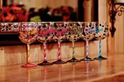 Bridesmaid Gift - Hand Painted Wine Glasses