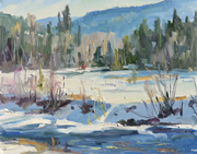 Down by the River Cold  24x30  o/c