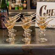 Mini Martini Favor Glasses with Chevron Sippers