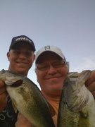 Dan Johnson and I with a double