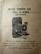 Burr Photo Company, Shanghai