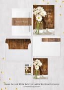 Mason Jar and White Daisies Country Wedding Collection
