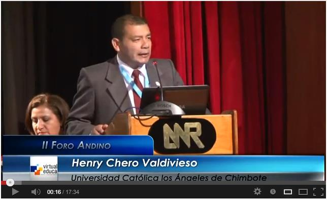 Henry Chero en el II Foro Andino Virtual Educa