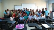 Con los alumnos del doctorado en Educación, Chiclayo abril 2015.