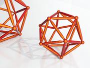 Red icosahedron