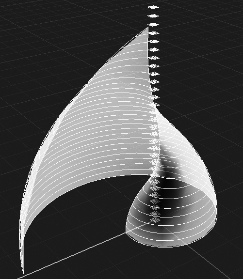 Extraction of horizontal curves by plane intersection