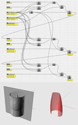 Interpolazione di forma combinata tra superfici