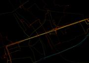 gps paths closeup
