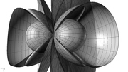3D Stream Lines of a magnetic dipole