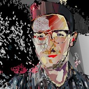 generative collage self-portrait