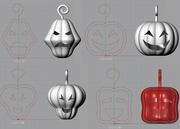 Customize Halloween Pumpkin for 3D printing
