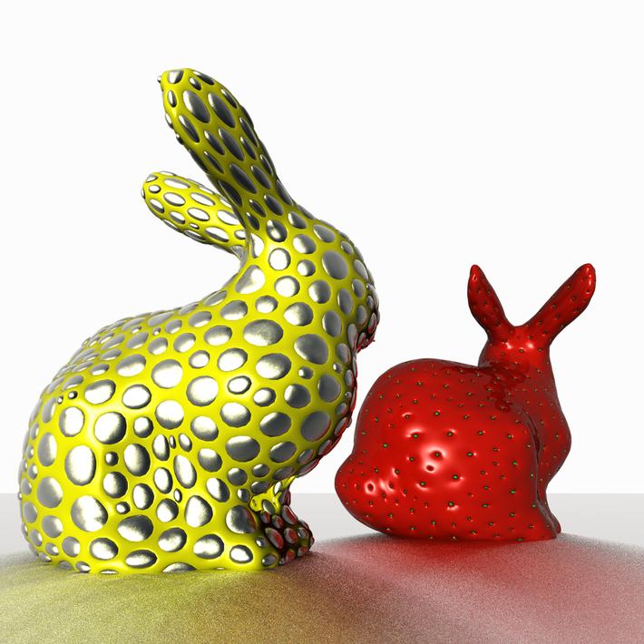 Strawberry and metallized rabbit