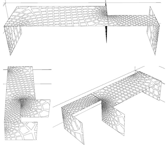 millipede: principal stress aligned patterns