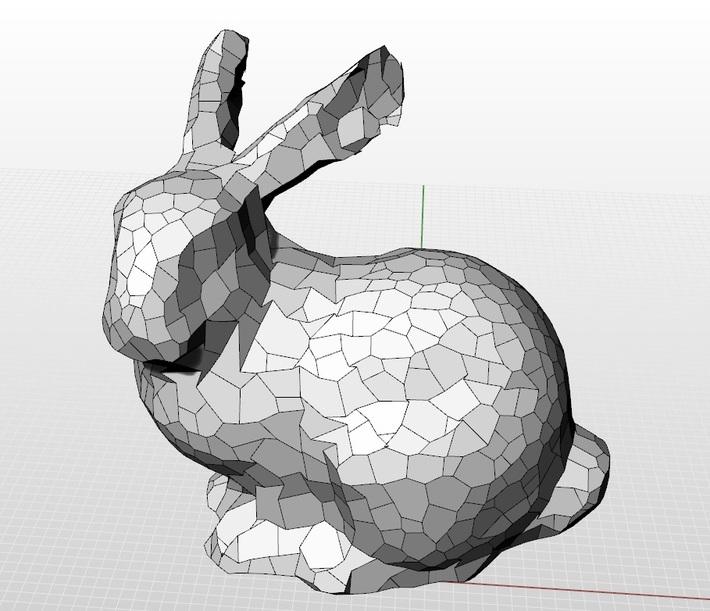 Planar hex Stanford Bunny