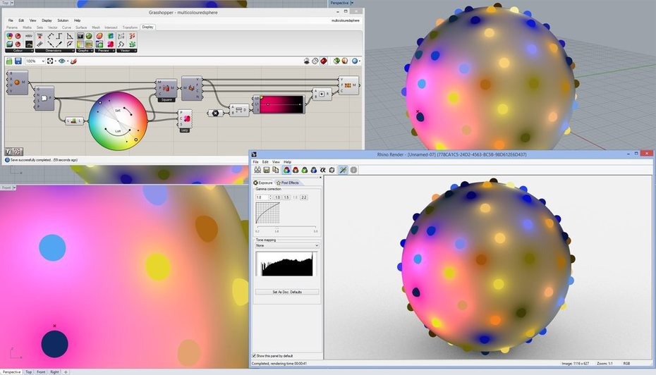 Dot Display rendering