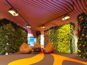 office farm in parametric interior