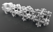 Fractal Cube03-recursive growth using Anemone