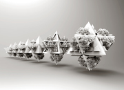 Koch_Tetrahedron-recursive growth using Anemone