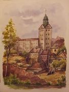 """""""Zamek w Szczecinie ,widok od strony północnej """""""